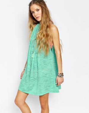 Pitusa Пляжное платье с халтером. Цвет: мятный
