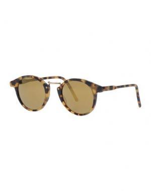 Солнечные очки KYME. Цвет: зеленый-милитари