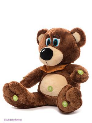 Медведь в косынке Я расскажу тебе 4 сказки и спою колыбельную PLUSH APPLE. Цвет: коричневый