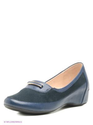 Туфли Covani. Цвет: темно-синий, черный