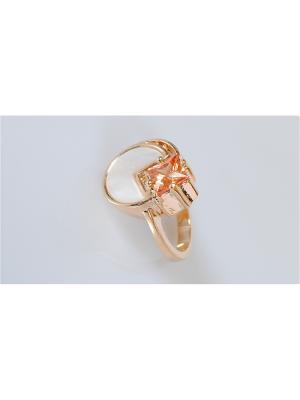 Кольцо Перламутр - фиаинит Lotus Jewelry. Цвет: желтый, белый