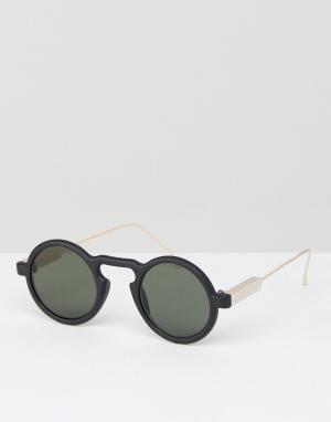 Spitfire Черные круглые солнцезащитные очки Aurora. Цвет: черный
