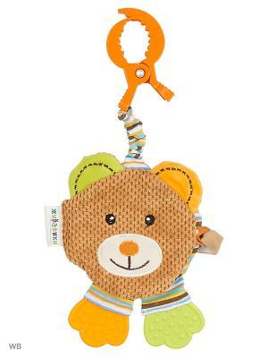 Подвеска-книжка с шуршалкой Мишка Вилли Жирафики. Цвет: коричневый, оранжевый, салатовый, бежевый