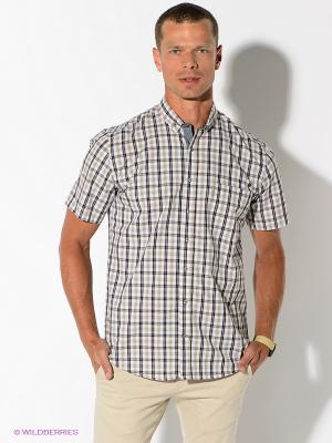 Рубашка Maestro. Цвет: бежевый, темно-синий