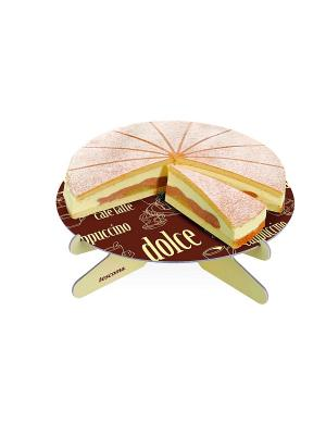 Подставка для торта Tescoma. Цвет: бордовый, бежевый