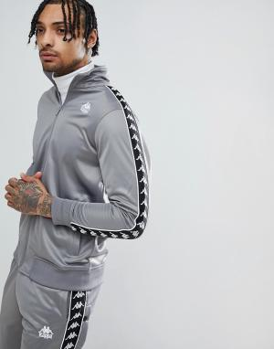 Kappa Серая спортивная куртка с кантом на рукавах. Цвет: серый