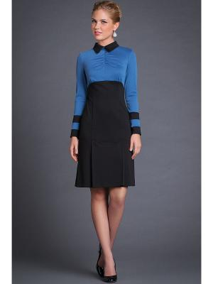 Платье Арт-Деко. Цвет: черный, голубой