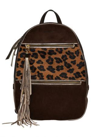 Рюкзак CARLA FERRERI PRIVE COLLECTION. Цвет: коричневый