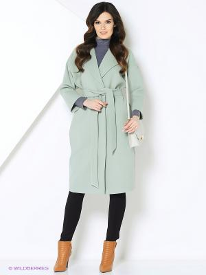 Пальто-oversize RUXARA. Цвет: светло-голубой