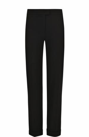Укороченные брюки прямого кроя с отворотами Escada. Цвет: черный
