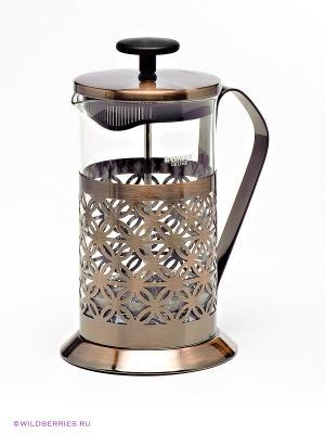 Кофейник Bekker. Цвет: бронзовый (осн.), прозрачный