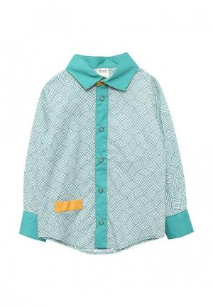 Рубашка Ёмаё. Цвет: бирюзовый