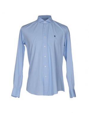 Pубашка COTTON BELT. Цвет: небесно-голубой