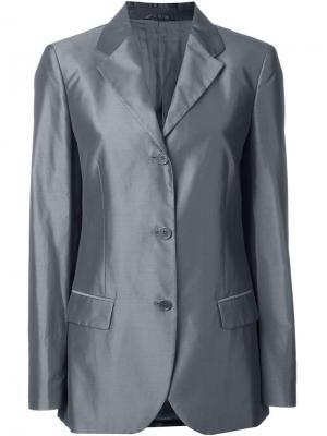 Пиджак с застежкой на три пуговицы Helmut Lang Vintage. Цвет: серый