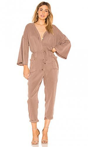 Комбинезон ida YFB CLOTHING. Цвет: серо-коричневый