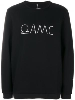 Толстовка с принтом логотипом Oamc. Цвет: чёрный