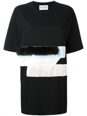 Panelled front T-shirt Caitlin Price. Цвет: чёрный