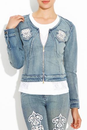 Куртка Sassofono. Цвет: синий