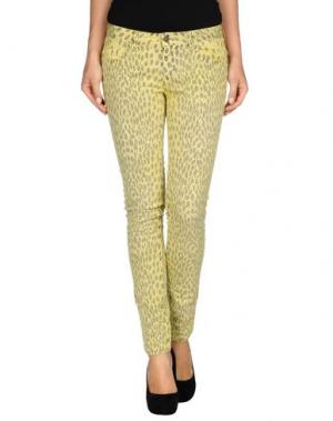 Джинсовые брюки GOLD CASE. Цвет: желтый