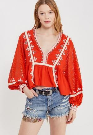 Блуза Free People. Цвет: красный