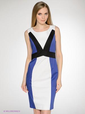 Платье LUIGI FERRO. Цвет: синий, белый