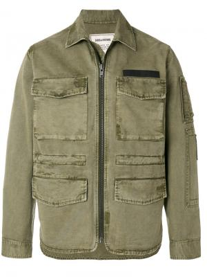 Zipped fitted jacket Zadig & Voltaire. Цвет: зелёный