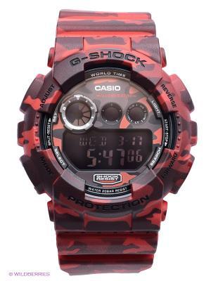 Часы G-SHOCK GD-120CM-4E CASIO. Цвет: красный, антрацитовый