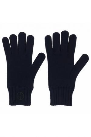 Перчатки Giorgio Armani. Цвет: синий