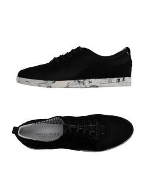 Низкие кеды и кроссовки CP CHARLES PHILIP SHANGHAI. Цвет: черный