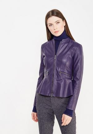 Куртка кожаная Armani Exchange. Цвет: фиолетовый