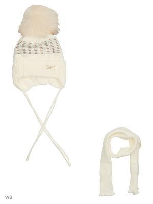 Комплект: шапка, шарф RACCOON YELLOW. Цвет: кремовый