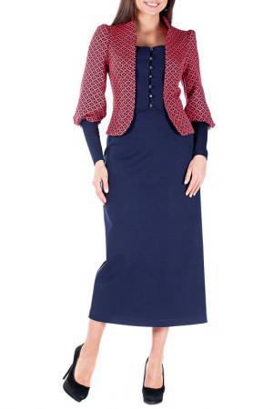 Комплект с юбкой Mannon. Цвет: красный