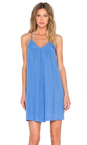 Платье ками на шлейках Michael Stars. Цвет: синий