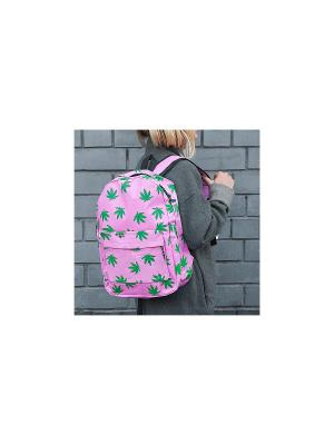 Рюкзак Leaves (розовый) Kawaii Factory. Цвет: бледно-розовый