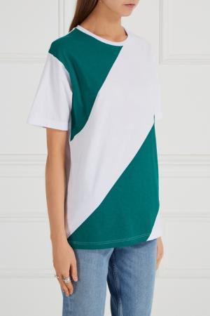 Хлопковая футболка в полоску BLANK.MOSCOW. Цвет: белый