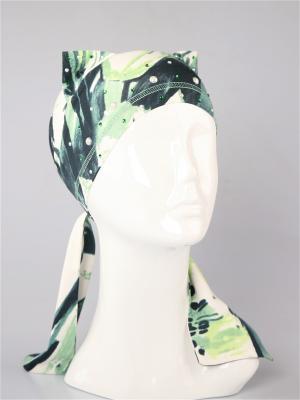 Бандана SHERONA. Цвет: молочный, зеленый