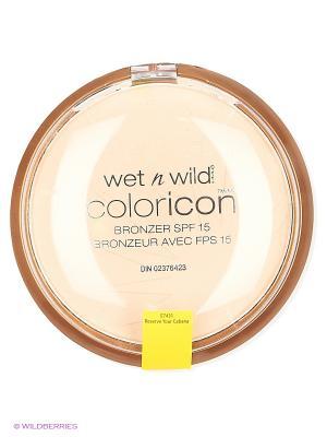 Компактная пудра для лица бронзатор color icon bro, E7431 reserve your cabana Wet n Wild. Цвет: светло-бежевый