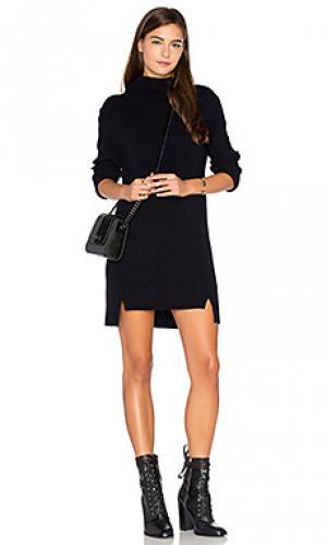 Платье свитер michelle CHARLI. Цвет: синий