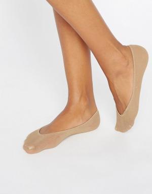 Jonathan Aston Хлопковые невидимые носки натурального цвета. Цвет: рыжий