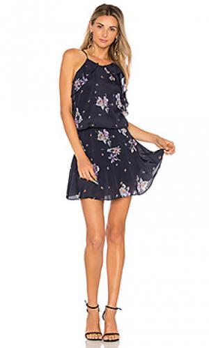 Мини платье lulu Karina Grimaldi. Цвет: синий