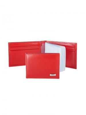 Футляр для карт с карманами Tirelli. Цвет: красный