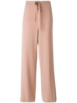 Прямые брюки на стяжке Theory. Цвет: розовый и фиолетовый