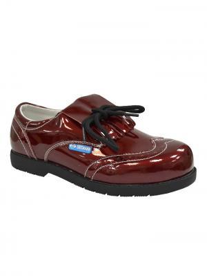 Обувь ортопедическая малосложная ROMA, арт. 7.118.2 ORTMANN. Цвет: бордовый