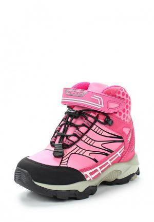 Ботинки Зебра. Цвет: розовый