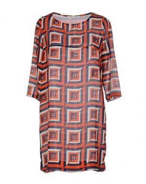 Короткое платье ANONYME DESIGNERS. Цвет: оранжевый