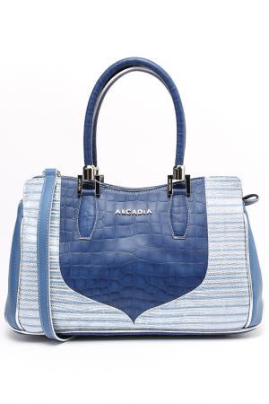 Сумка Arcadia. Цвет: голубой, белый, серебристый