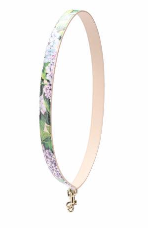 Кожаный ремень для сумки с цветочным принтом Dolce & Gabbana. Цвет: разноцветный