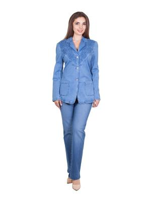 Жакет LAFEI-NIER. Цвет: голубой