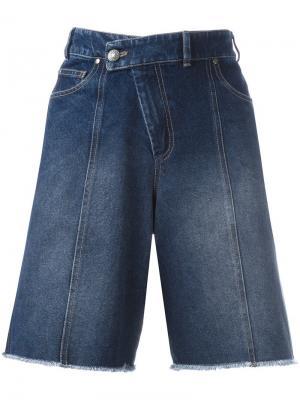Джинсовые шорты Pukklepop A.F.Vandevorst. Цвет: синий