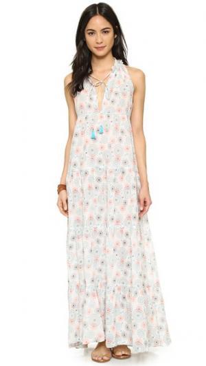 Платье Lai с принтом в виде мандалы Christophe Sauvat Collection. Цвет: разноцветная клетка